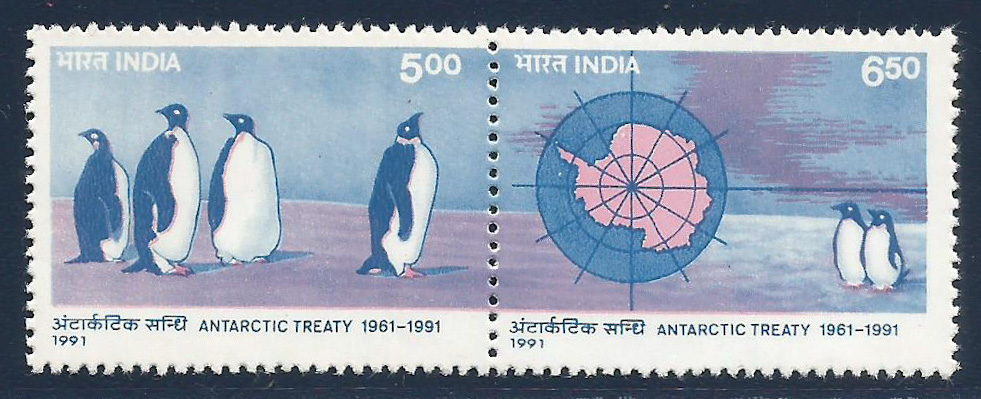 India 1991 Artarctic Treaty Setenent Se-tetent MH Stamp @064