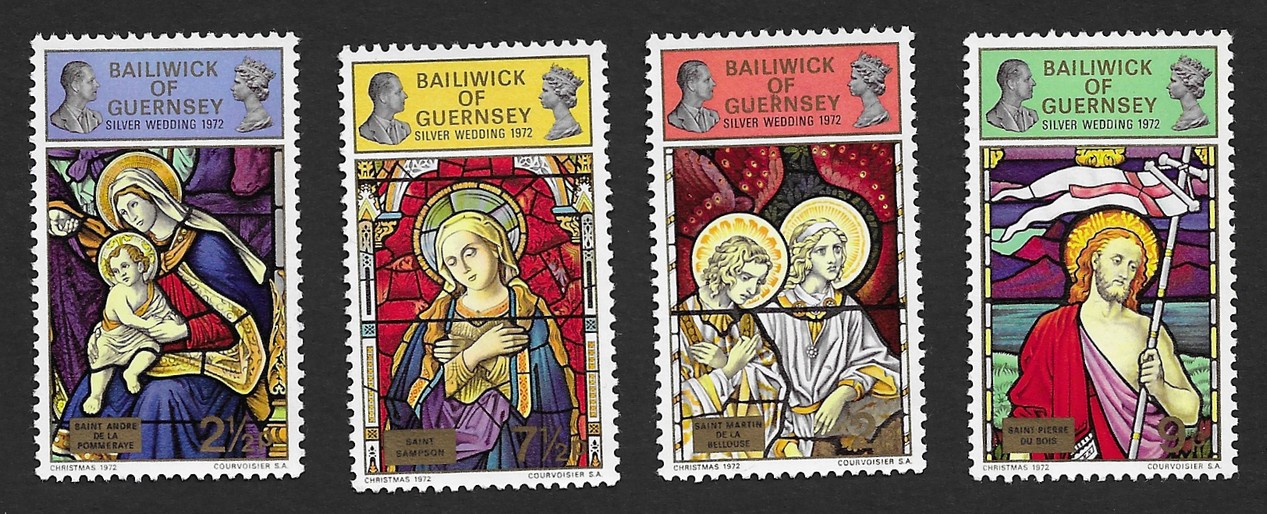Guernsey 1972 Christmas set of 4 MH