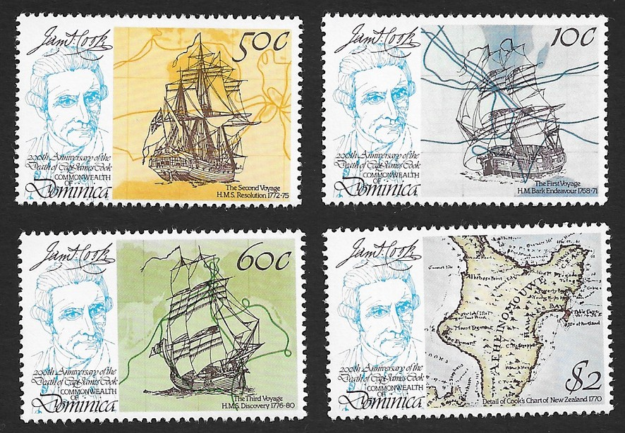 Dominic 1979 James Cook Commonwealth set of 4 MNH