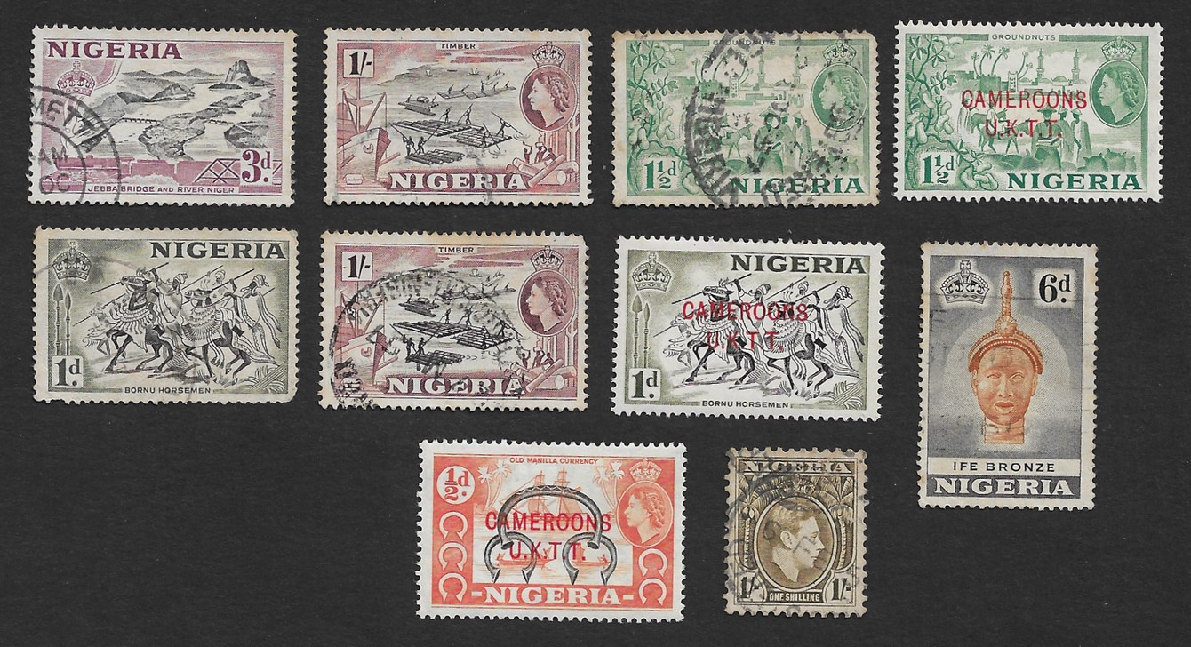 Nigeria 1938 - 1953 mint & used collection – 10 stamps