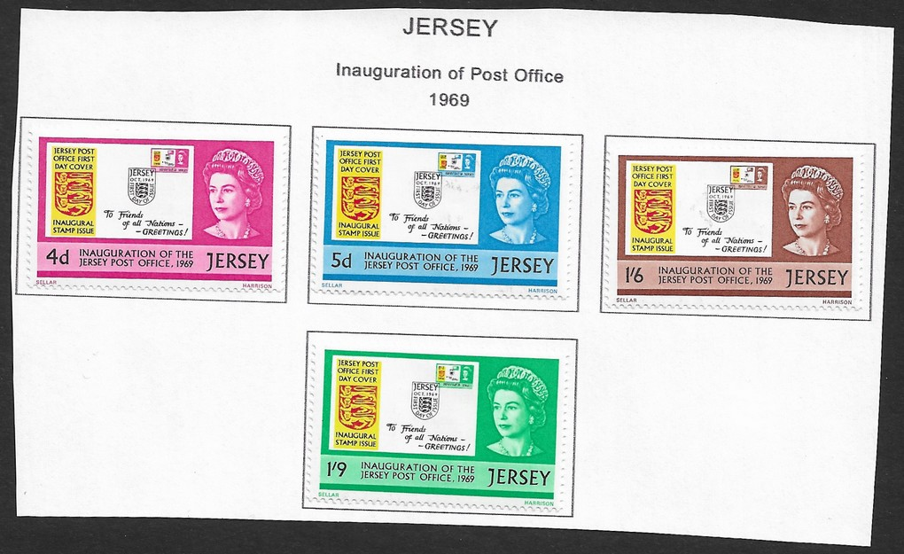 Jersey 1969 Inauguration of Post Office set of 4 MH