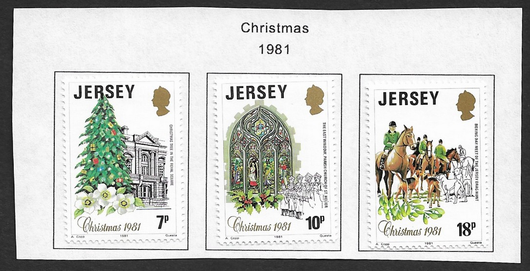 Jersey 1981 Christmas set of 3 MH