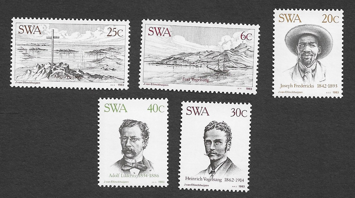 South West Africa 1983 City of Luderitz centenary set of 5 MNH