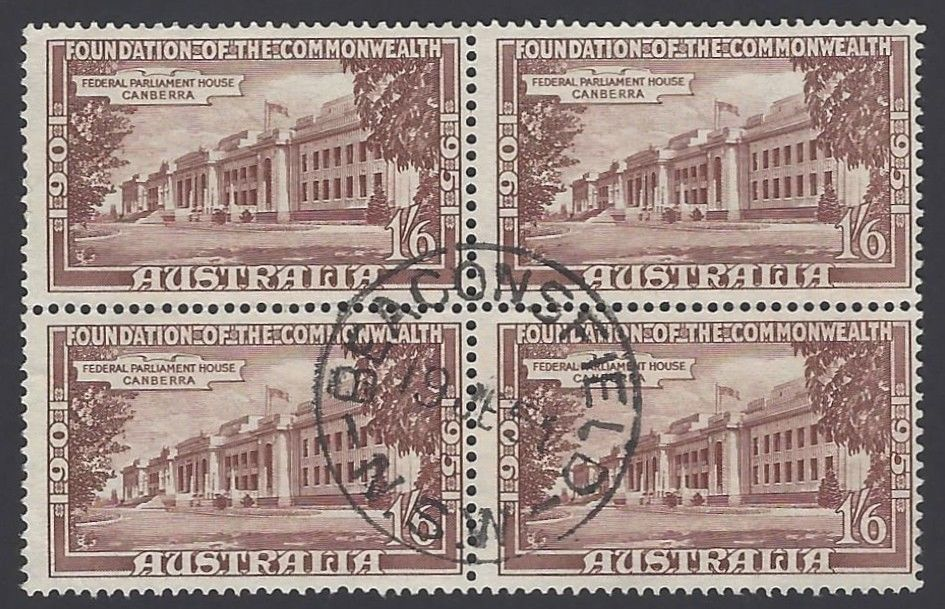 Australia 1951 Foundation of the Commonwealth block of 4 used