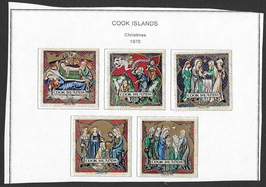 Cook Islands 1970 Christmas set of 5 MH