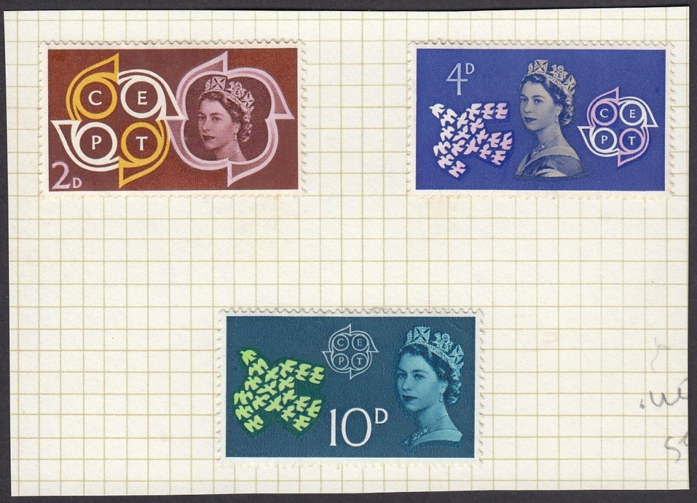 GB Great Britain 1961 CEPT set of 3 MH