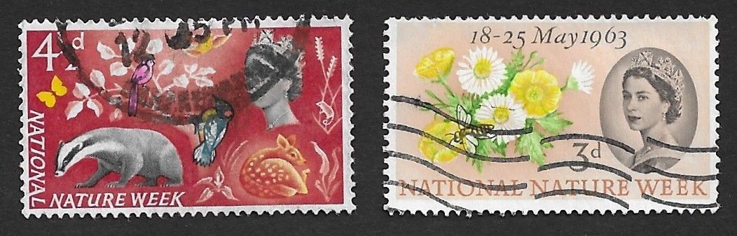 GB Great Britain 1963 National Nature Week 2v used