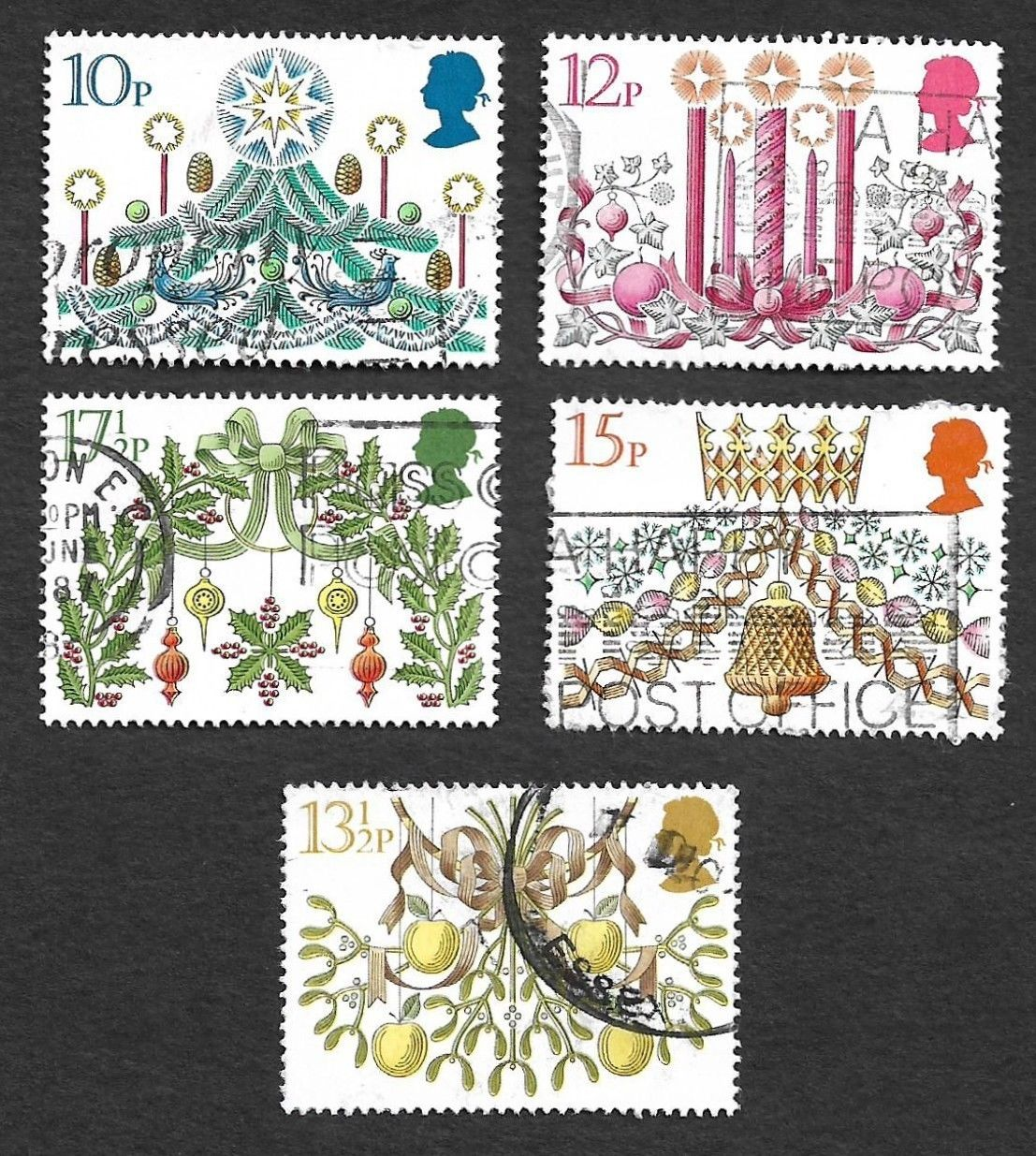 GB Great Britain 1980 Christmas 5v used