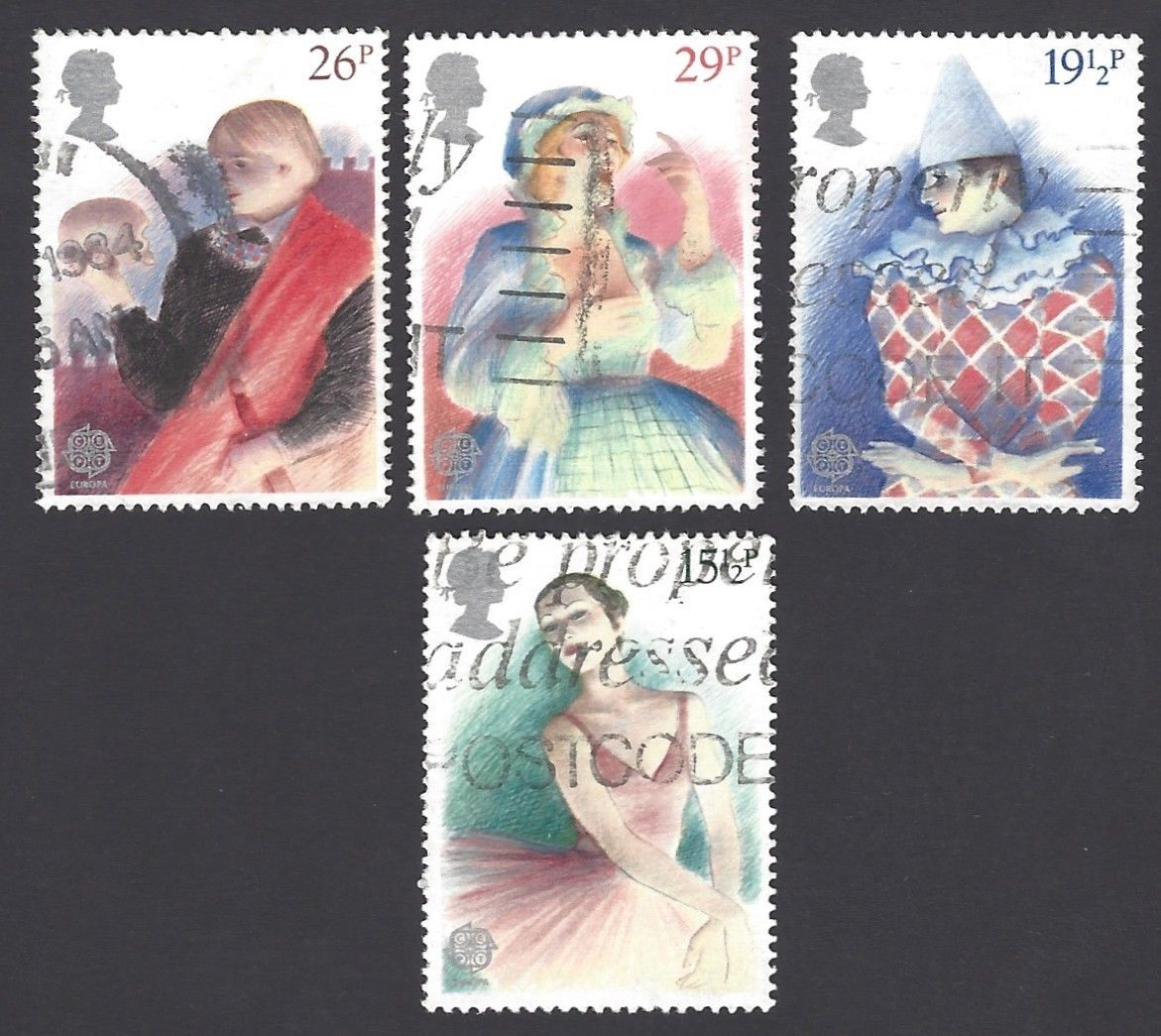 GB Great Britain 1982 Europe 4v used