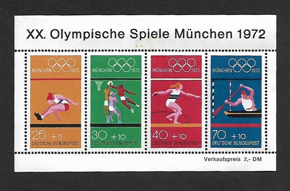 Germany 1972 Olympics Games MS MNH