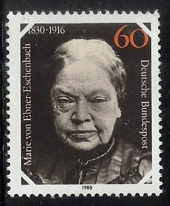 Germany MH (Hinged) stamp - 1980 The 150th Anniversary of the Birth of Marie von Ebner Eschenbach, Writer - (P-042/A)