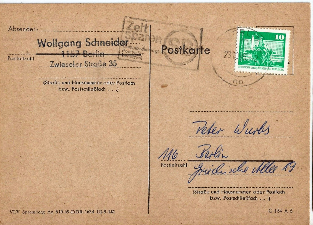 Germany - Used postcard with Cancellation as per scan - (P-007/E)