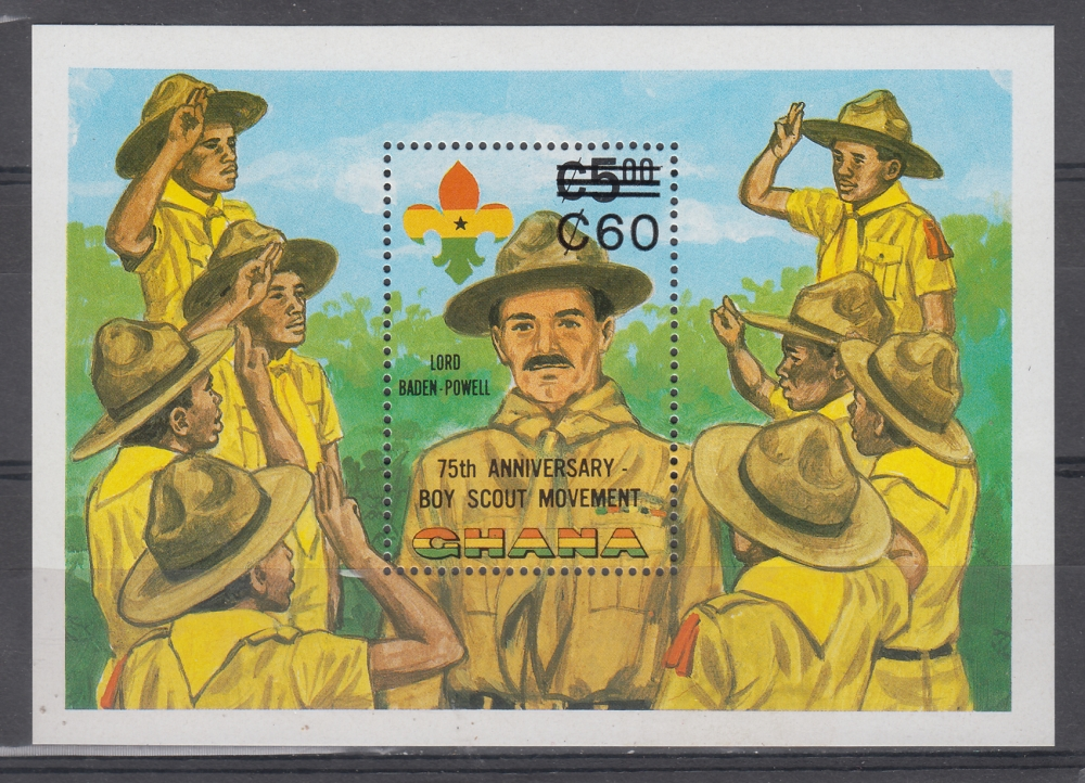 Ghana  1982  Lord Baden Powell  75th Anniversary Of Boy Scouts  MS  # 72301