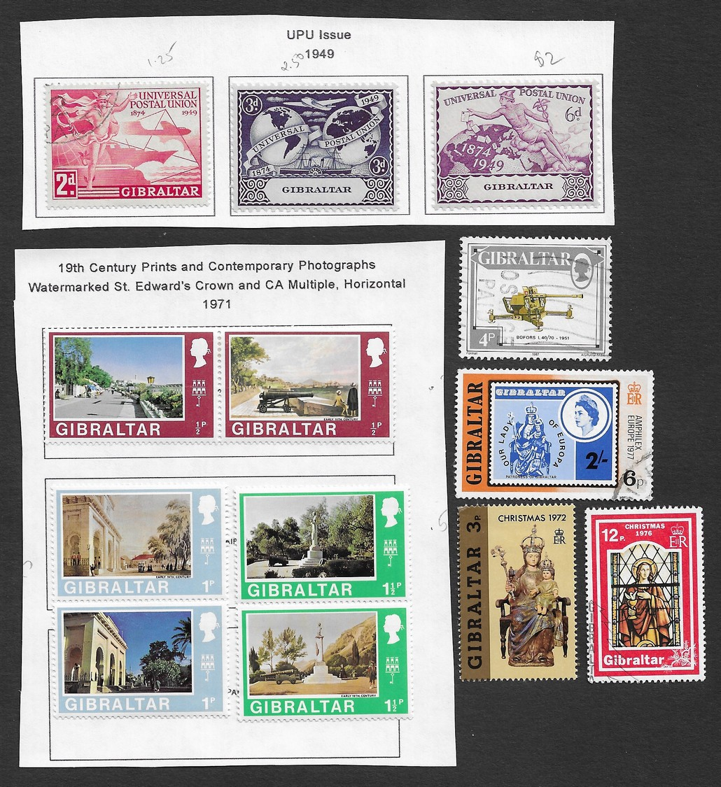 Gibraltar 1921-71 collection (32 stamps)