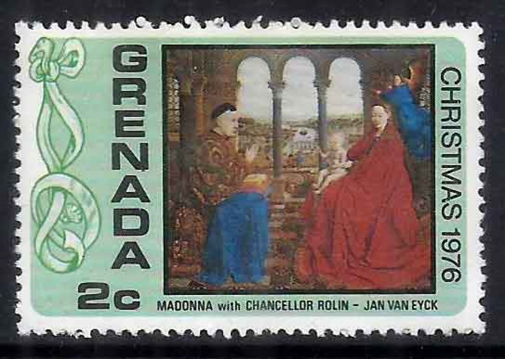 Grenada - MH (Hinged) Stamp - Christmas 1976, Paintings (P-041/G) A