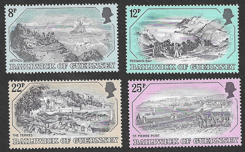 Guernsey 1982 19th Century Prints, Guernsey set of 4 MNH