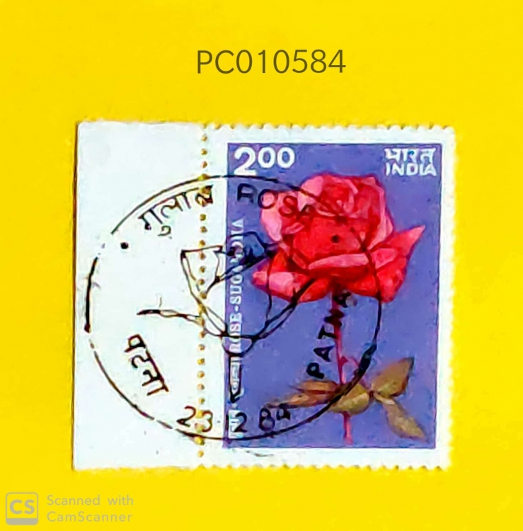 India - 1984 - Roses- First day Cancelled-PC10584