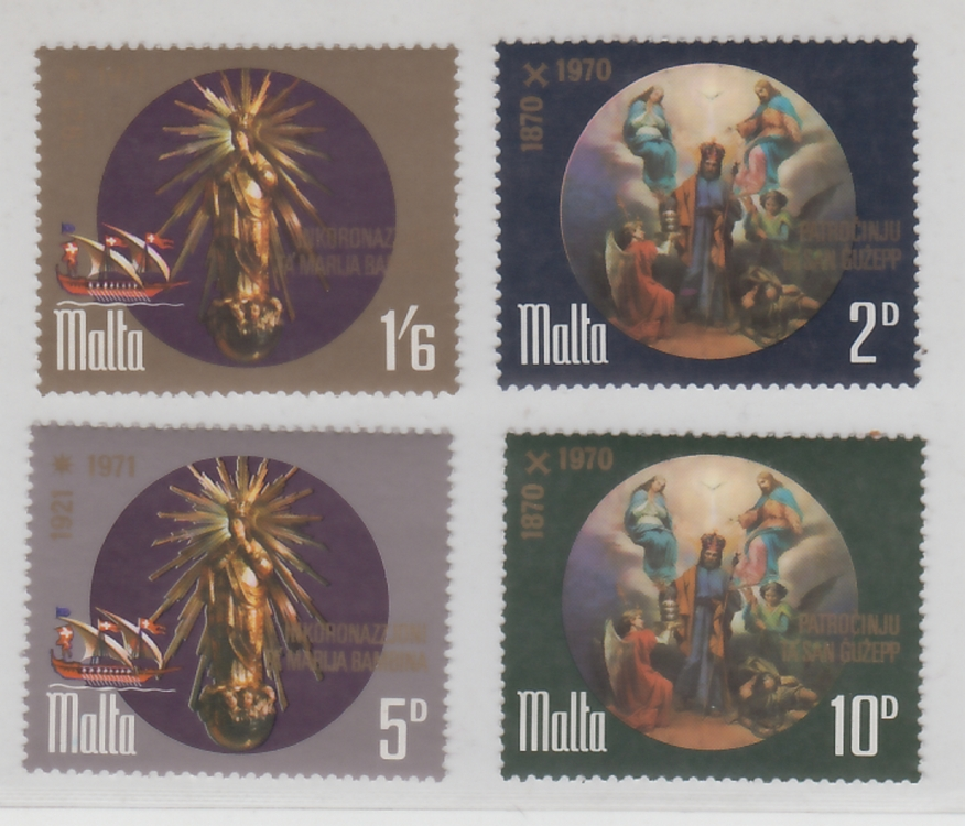 Malta  1970  Christianity Paintings  4v  MNH  Set  Excellent Condition  # 68307