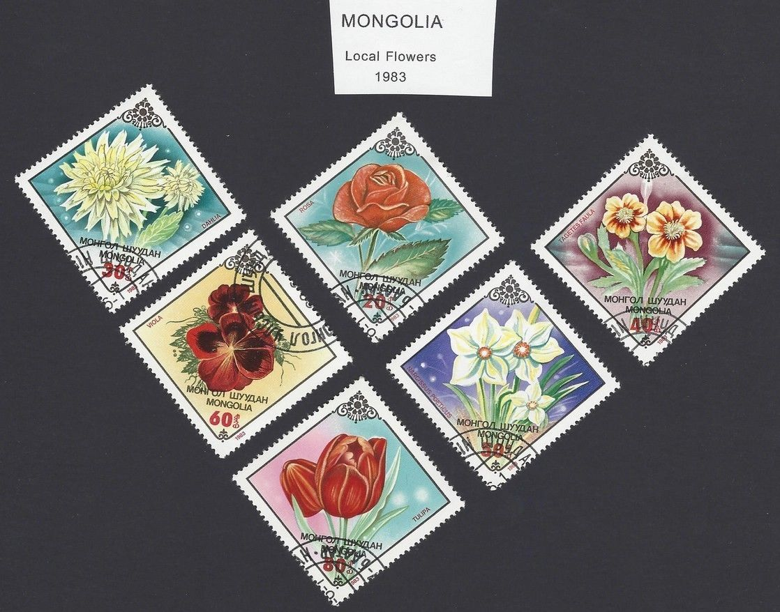 Mongolia 1983 Local Flowers 6v used