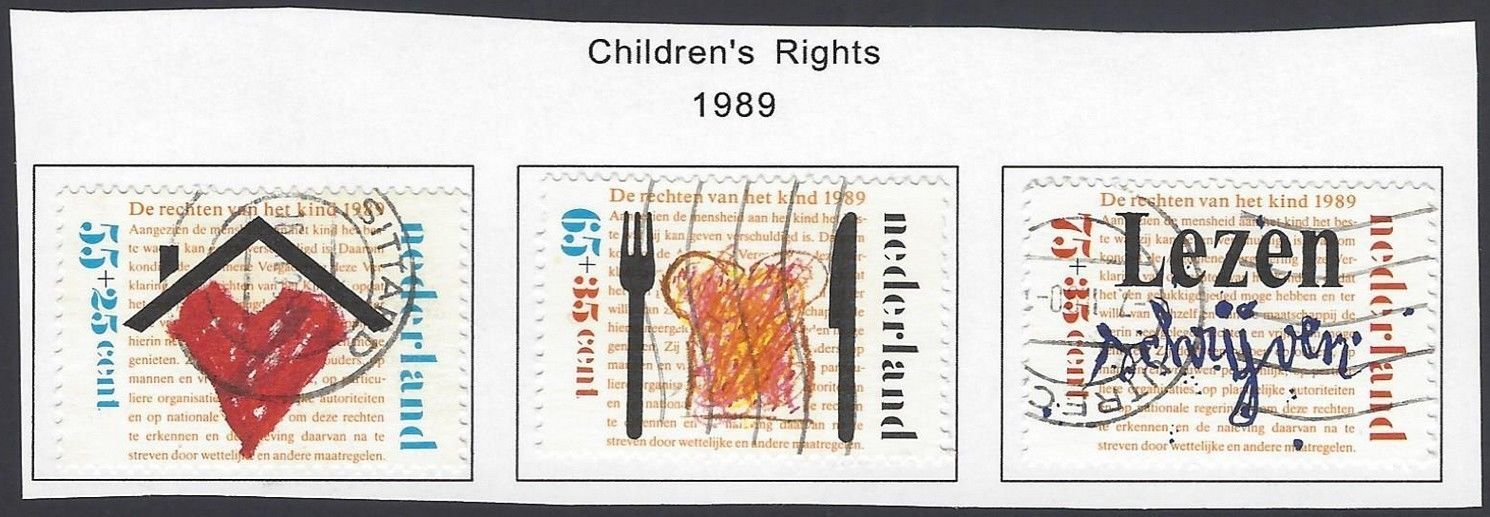 Netherland 1989 Children`s Rights set of 3 used