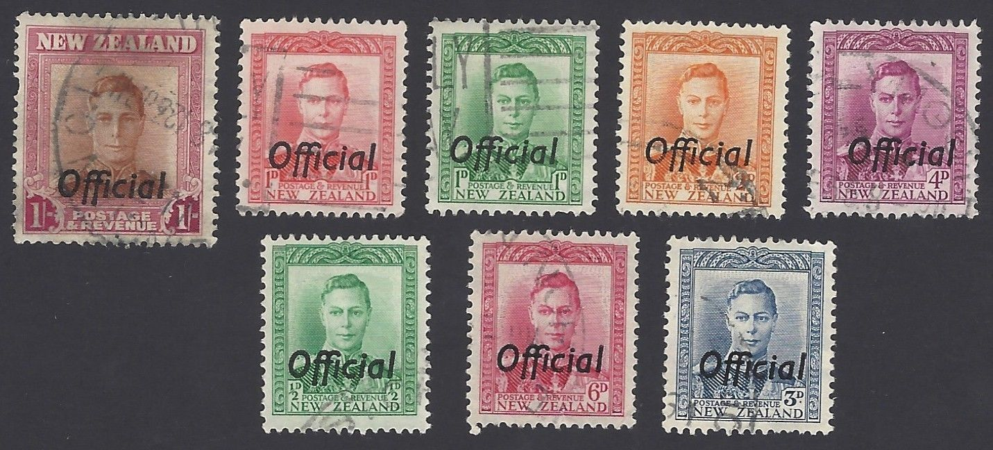 New Zealand 1938-47 Officials 8v used