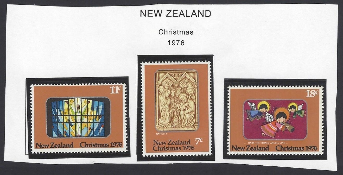 New Zealand 1976 Christmas set of 3 MNH
