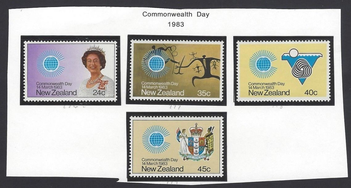 New Zealand 1983 Commonwealth Day set of 4 MNH