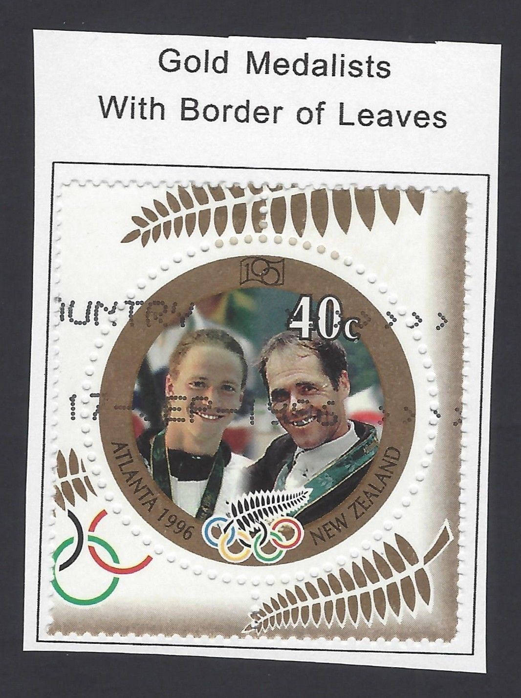 New Zealand 1996 Gold Medalists with Border of Leaves MH