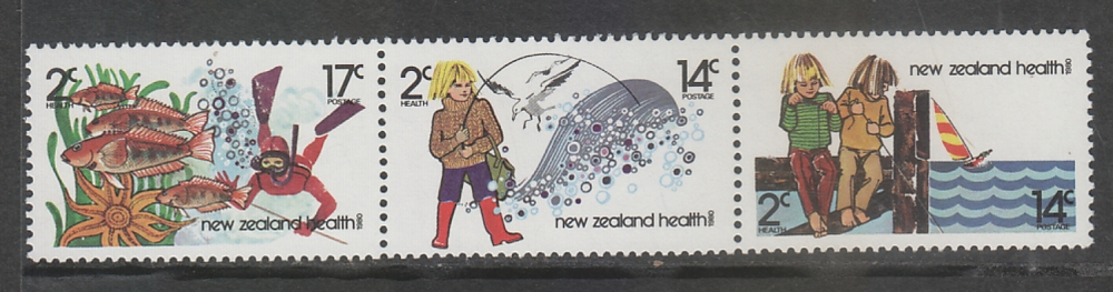 New Zealand  2000s  Health Issue  3v  MNH Strip  Excellent Condition  # 67326