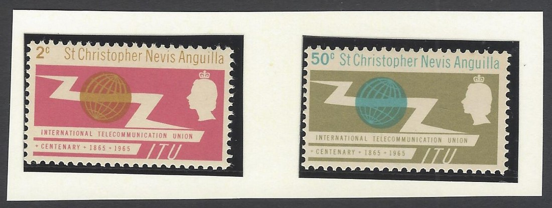 St.Christopher Nevis Anguilla 1965 ITU Set of 2 MNH