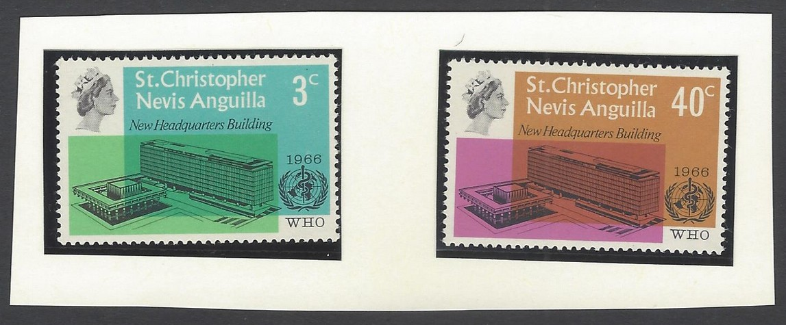 St.Christopher Nevis Anguilla 1966 WHO Set of 2 MNH