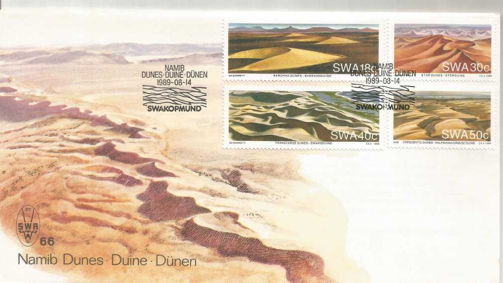 SWA - FDC WITH INFO CARD INSIDE - Namib Dunes (P-057/A)